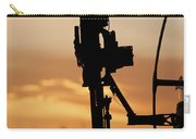 Silhouette Of A M240g Medium Machine Carry-all Pouch by Terry Moore