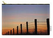 Silhouette Of Barbed Wire Fence Carry-all Pouch