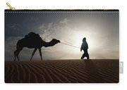 Silhouette Of Berber Leading Camel Carry-all Pouch