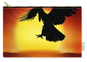 Silhouette Of Eagle Carry-all Pouch
