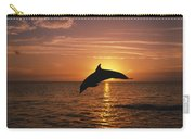 Silhouette Of Leaping Bottlenose Carry-all Pouch