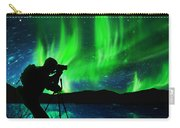 Silhouette Of Photographer Shooting Stars Carry-all Pouch