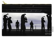 Silhouette Of Sailors In The Hangar Bay Carry-all Pouch