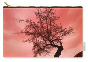 Silhouette Of Shrub Tree Carry-all Pouch