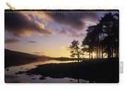 Silhouette Of Trees On The Riverbank Carry-all Pouch