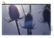 Silhouette Of Weeds Carry-all Pouch