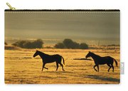 Silhouetted Horses Running Carry-all Pouch