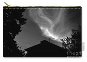 Silhouetted House And Clouds Carry-all Pouch