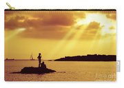 Silhouettes On The Beach Carry-all Pouch by Carlos Caetano