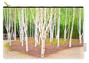 Silver Birch Trees Carry-all Pouch
