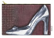 Silver Crocodile Pump Carry-all Pouch