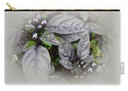 Silver Leaves And Berries Carry-all Pouch