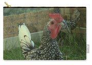 Silver Seabright Rooster And Hen Carry-all Pouch