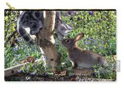 Silver Tabby And Wild Rabbit Carry-all Pouch