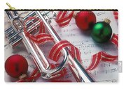 Silver Trumper And Christmas Ornaments Carry-all Pouch