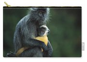 Silvered Leaf Monkey And Baby Carry-all Pouch