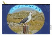 Singing Seagull Christmas Card Carry-all Pouch