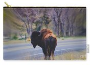 Single Buffalo In Yellowstone Np Carry-all Pouch