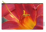 Single Red Lily 2 Carry-all Pouch