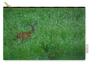 Six Point Deer In Wildflowers Carry-all Pouch