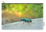 Six-spotted Tiger Beetle - Cicindela Sexguttata Carry-all Pouch