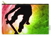 Skateboarder In A Psychedelic Cyclone Carry-all Pouch