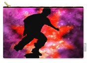 Skateboarder In Cosmic Clouds Carry-all Pouch
