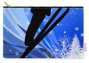 Ski Jumping In The Snow Carry-all Pouch