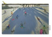 Skiing Carry-all Pouch by Andrew Macara