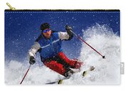 Skiing Down The Mountain Carry-all Pouch