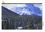 Skiing In Mountains Carry-all Pouch by Elena Elisseeva