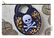 Skull And Cross Bones Lock Carry-all Pouch