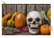 Skull And Gourds Carry-all Pouch
