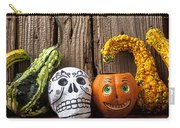 Skull And Jack-o-lantern Carry-all Pouch