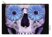 Skull Art - Day Of The Dead 3 Carry-all Pouch by Sharon Cummings
