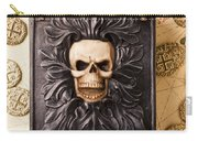 Skull Box With Skeleton Key Carry-all Pouch
