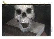 Skull On Books Carry-all Pouch by Joana Kruse