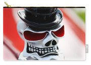 Skull With Top Hat Hood Ornament Carry-all Pouch