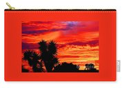 Morro Bay California Sky Fire Carry-all Pouch