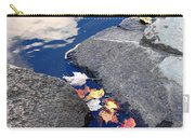 Sky Reflection Leaves And Rocks Carry-all Pouch