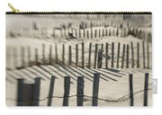 Slats Of Wooden Fence Throwing Shadows Carry-all Pouch