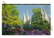 Slc Temple Flowers Carry-all Pouch