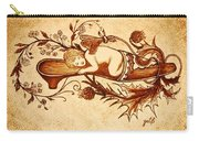 Sleeping Angel Original Coffee Painting Carry-all Pouch