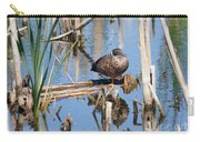 Sleeping Teal Carry-all Pouch