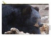 Sleepy Black Bear Carry-all Pouch