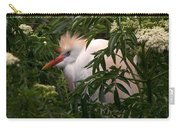 Sleepy Egret In Elderberry Carry-all Pouch