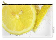 Sliced Lemon In Fizzy Water Carry-all Pouch