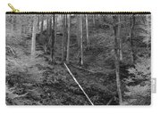 Slovenian Forest In Black And White Carry-all Pouch