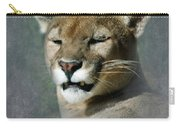 Slumbering Mountain Lion Carry-all Pouch