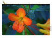 Small Orange Flower Carry-all Pouch